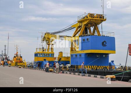 Batumi sea port, Adjara, Georgia - Stock Photo