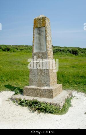The Robertson War Memorial Bequest Obelisk, Michel Dene, East Sussex, UK - Stock Photo