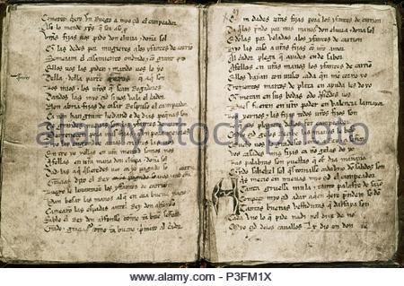 El Cantar Del Mio Cid Escrito Hacia 1140 Copia Del Siglo Xiv Per