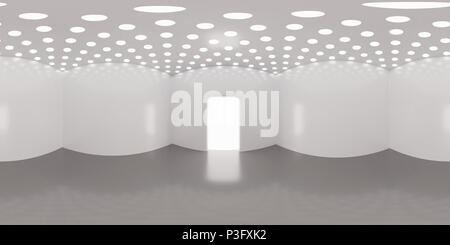 HDRI environment map, abstract spherical panorama background, interior light source rendering (3d illustration) - Stock Photo
