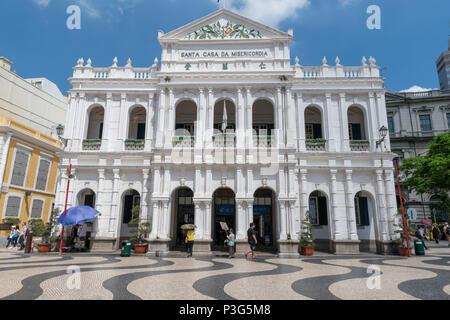 leal senado macau, day bright fun travel and tourism - Stock Photo