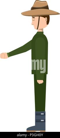 Anzac soldier icon over white background, vector illustration - Stock Photo