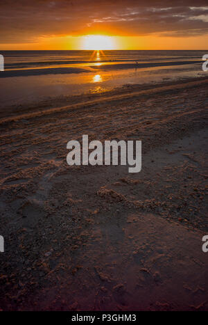 Redington Beach. Florida, USA,  Thursday,  12/10/2017, View. Sunset, Beach, Sunsets, foreshore © Peter SPURRIER, - Stock Photo