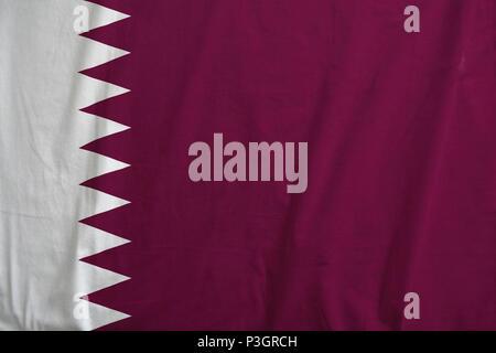 Flag of Qatar waving. - Stock Photo