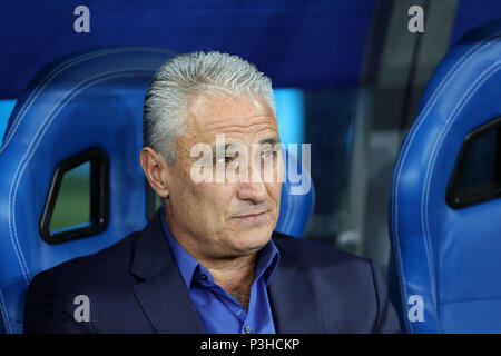 Rostov-on-Don, Russia. 17th June, 2018. Tite (BRA) Football/Soccer : FIFA World Cup Russia 2018 Group E match between Brazil 1-1 Switzerland at Rostov Arena in Rostov-on-Don, Russia . Credit: AFLO/Alamy Live News - Stock Photo