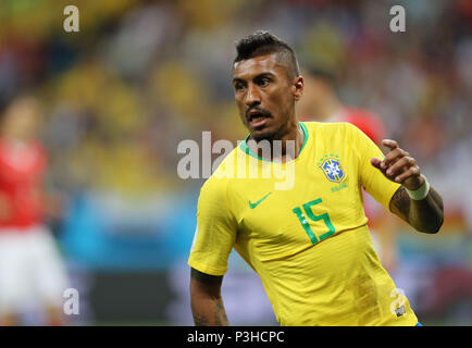 Rostov-on-Don, Russia. 17th June, 2018. Paulinho (BRA) Football/Soccer : FIFA World Cup Russia 2018 Group E match between Brazil 1-1 Switzerland at Rostov Arena in Rostov-on-Don, Russia . Credit: AFLO/Alamy Live News - Stock Photo