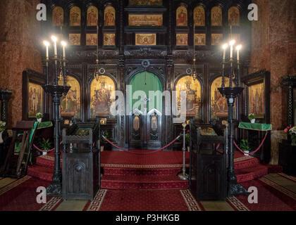 Coronation Cathedral interior in Alba Iulia, Romania - Stock Photo