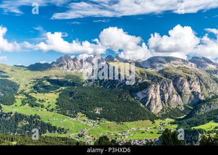 Dolomites Italy - Val Gardena - Stock Photo