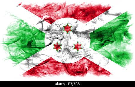 Burundi smoke flag - Stock Photo