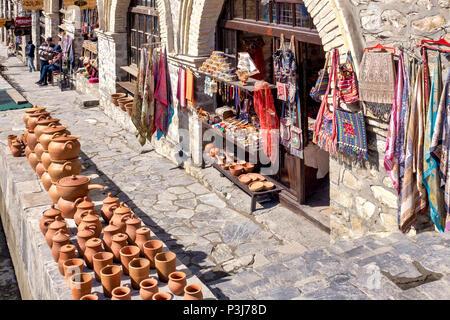Azeri traditional shop in Icheri Sheher, Baku, Azerbaijan - Stock Photo