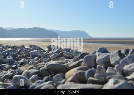 West Shore, Llandudno,  North Wales on a cold winters day - Stock Photo