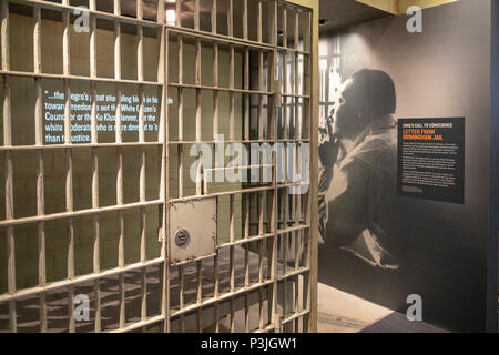 Memphis, Tennessee - The National Civil Rights Museum at the Lorraine Motel, where Martin Luther King, Jr. was assassinated in 1968. The text of Dr. K - Stock Photo