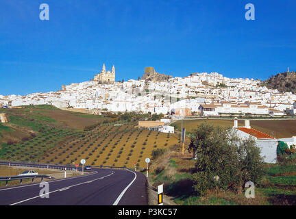 Overview. Olvera, Cadiz province, Andalucia, Spain. - Stock Photo
