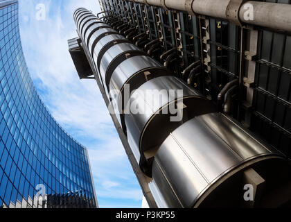 Lloyds Building and Willis Building, City of London, UK - Stock Photo