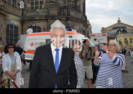 DRESDEN, GERMANY - JUNE 08: Klaus Wowereit during the Lambertz reception - Stock Photo