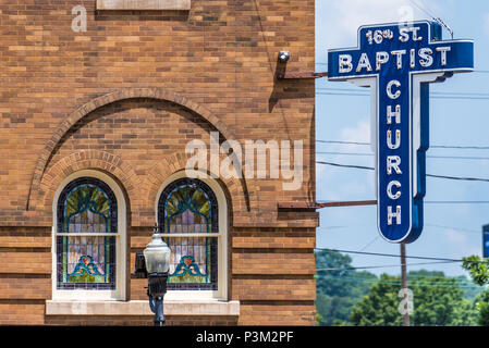 16th Street Baptist Church in Birmingham, AL, site of a KKK racist bombing that killed four black girls and injured 22 others on September 15, 1963. - Stock Photo