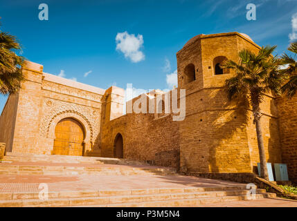 Kasbah of Udayas fortress in Rabat Morocco - Stock Photo