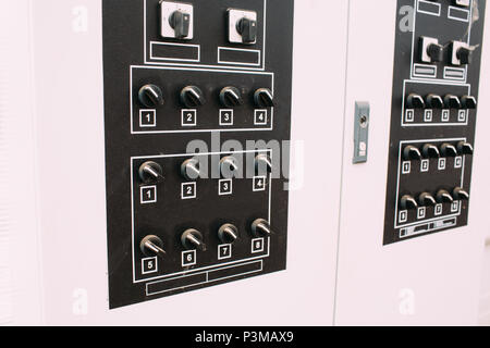 Electro panel with toggle switches - Stock Photo
