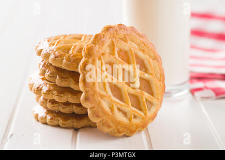 The apple pie cookies on white table. - Stock Photo