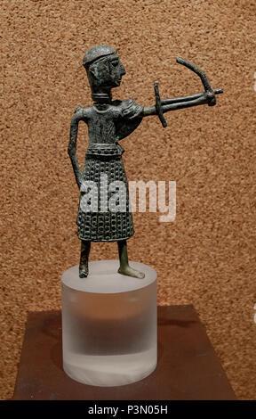 Italy Sardinia Cagliari National archeologic bronzes nuragic age archer - Stock Photo