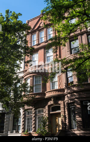 Upper West Side Neighborhood in New York City, USA - Stock Photo