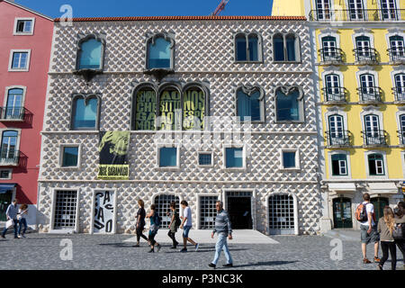 Casa dos Bicos, José Saramago Foundation. Lisbon, Portugal - Stock Photo