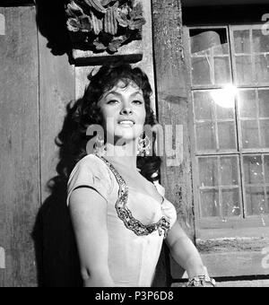 Original Film Title: NOTRE DAME DE PARIS.  English Title: THE HUNCHBACK OF NOTRE DAME.  Film Director: JEAN DELANNOY.  Year: 1956.  Stars: GINA LOLLOBRIGIDA. Credit: PARIS-FILM PRODUCTIONS/ALLIED ARTISTS / Album - Stock Photo