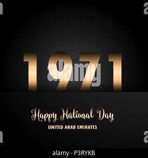Decorative background for UAE National Day celebration - Stock Photo