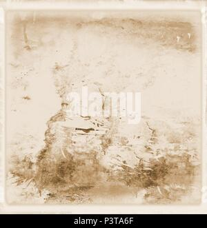 Vintage wall faded surface in sepia tones. For texture or background. - Stock Photo