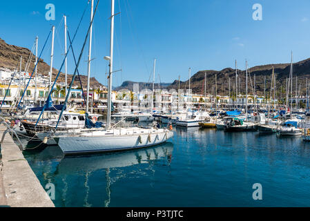 Beautiful City Puerto Mogan in Gran Canaria - Spain - Stock Photo