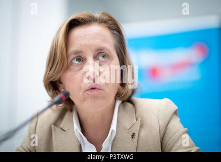 Berlin, Germany. 19th June, 2018. Beatrix von Storch, parliamentary group leader of the Alternative for Germany (AfD) in the German Bundestag, participates in a press conference. Credit: Kay Nietfeld/dpa/Alamy Live News - Stock Photo