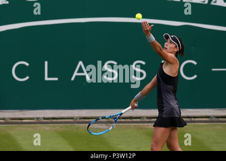Birmingham, UK. 19th Jun, 2018. Garbine Muguruza of Spain in action during her match against Anastasia Pavlyuchenkova of Russia . Nature Valley Classic 2018, international Women's tennis, day 2 at the Edgbaston Priory Club in Birmingham, England on Tuesday 19th June 2018.  pic by Andrew Orchard/Alamy Live News - Stock Photo