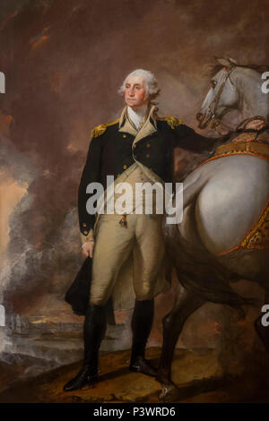 Washington at Dorchester Heights, Gilbert Stuart, 1806, Museum of Fine Arts, Boston, Mass, USA, North America - Stock Photo