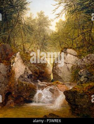 Bash-Bish Falls, Massachusetts, John Frederick Kensett, 1855, Museum of Fine Arts, Boston, Mass, USA, North America - Stock Photo