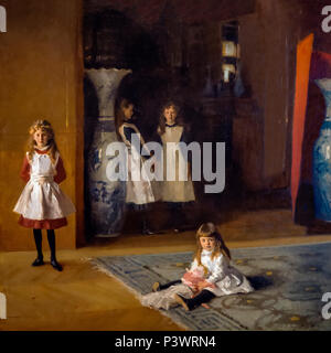 The Daughters of Edward Darley Boit, John Singer Sargent, 1882, Museum of Fine Arts, Boston, Mass, USA, North America - Stock Photo