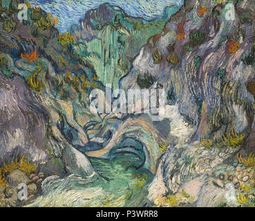 Ravine, Vincent van Gogh, 1889, Museum of Fine Arts, Boston, Mass, USA, North America - Stock Photo