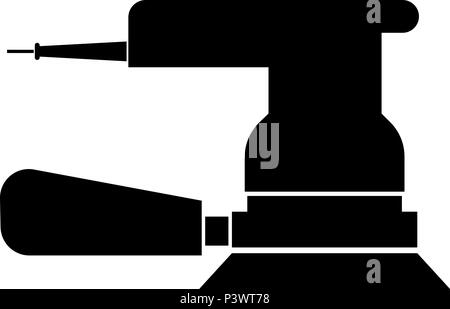 Eccentric grinder icon black color vector I flat style simple image - Stock Photo