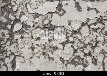 Abandoned wall painted white. Background texture. - Stock Photo