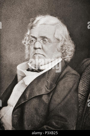 William Makepeace Thackeray, 1811 – 1863.  British novelist and author. After a contemporary print. - Stock Photo