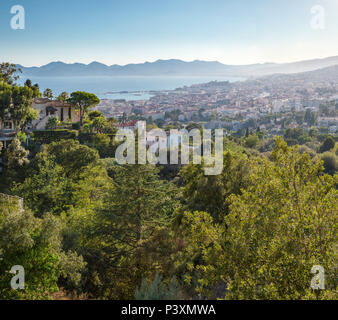 View over the city from the Boulevard des Pins - Stock Photo