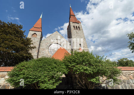 Tampere Cathedral (Tampereen tuomiokirkko in Finnish) is a Lutheran church in Tampere, Finland. It was built in 1902-1907 in National Romantic style. - Stock Photo