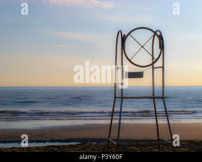 Guard station for the lifeguard on the Adriatic coast - Stock Photo