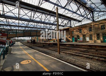 interior of Carlisle railway train station Carlisle Cumbria England UK - Stock Photo