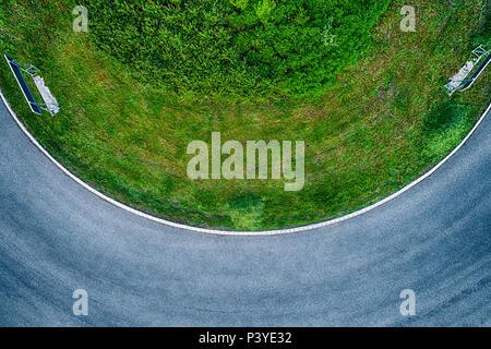 Kreisverkehr von oben, Bayern, Deutschland - Stock Photo