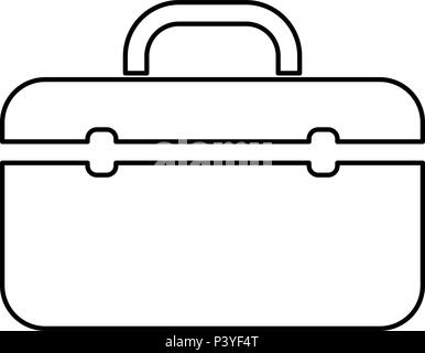 Tool Box Icon Simple Black Style Stock Vector Art Illustration