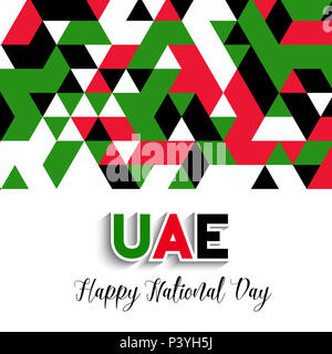 Decorative geometric style background for UAE National Day celebration - Stock Photo