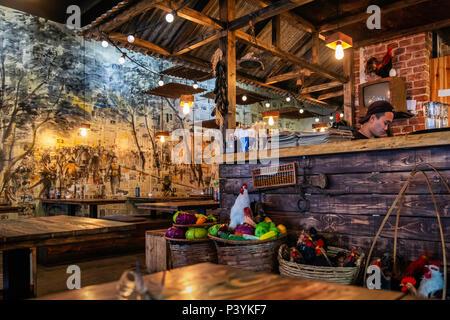 Fam Dang Vietnamese restaurant interior in Torstasse, Mitte-Berlin. - Stock Photo