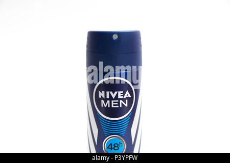 Nivea men deodorant spray - Stock Photo