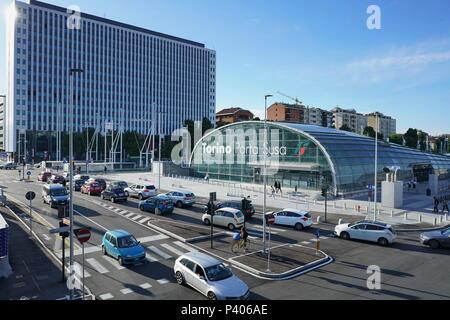 TURIN, ITALY - June 18, 2018: Torino Porta Susa railway station, the main central station of the city - Stock Photo