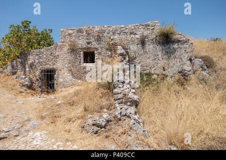 Castle of Saint George, Kefalonia, Greece - Stock Photo